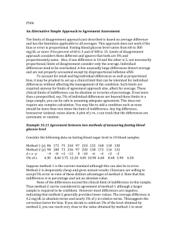 25. An alternative approach for assessing agreement