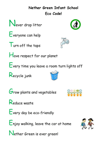 Nether Green Infant School Eco Code