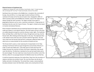 Southwest Asia Geo Interactive Notes