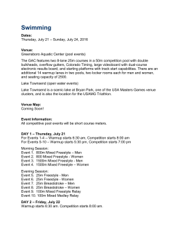 View Entry Form - US Masters Swimming