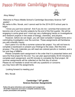 Cambridge 7 (6 th grade)