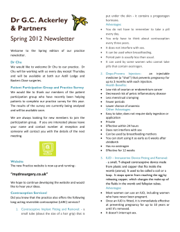 Spring 2012 Newsletter - Beaumont Lodge Medical Practice