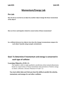 Momentum and Energy Lab