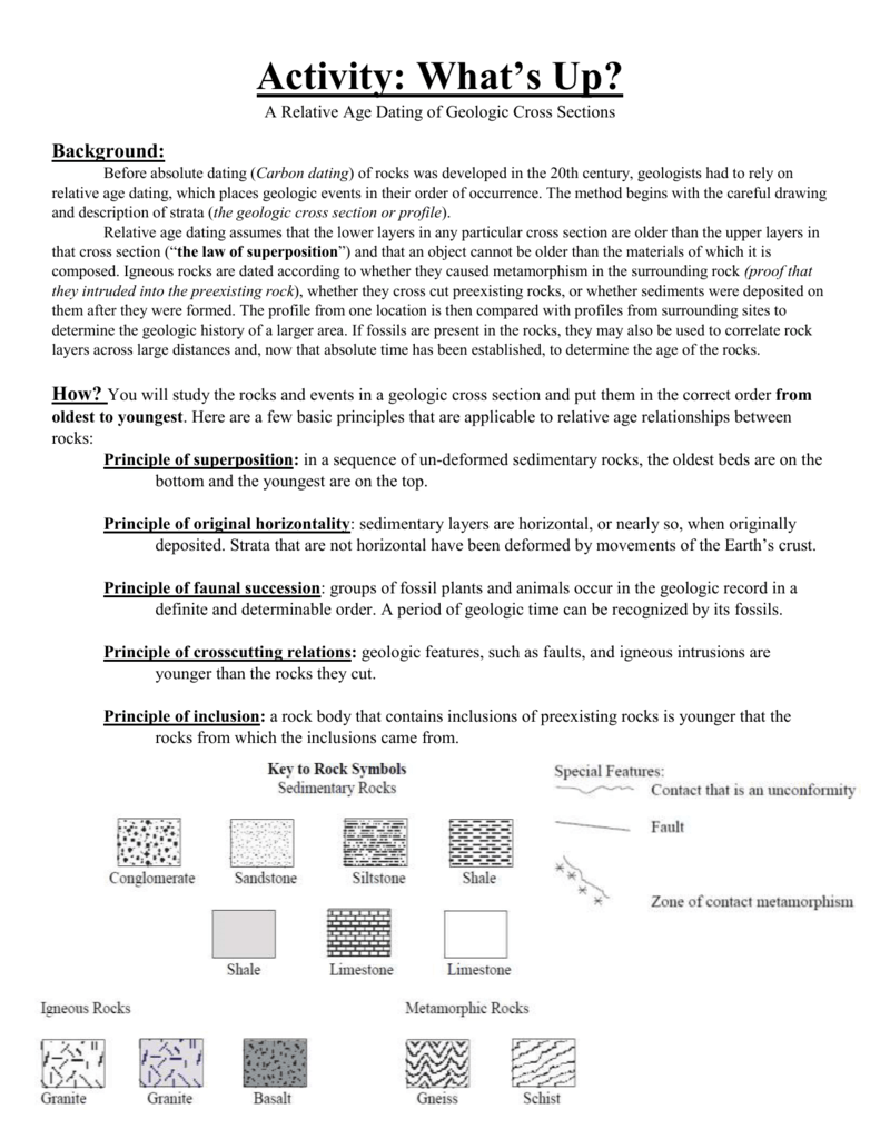 relative dating answers Relative dating worksheet answers test your knowledge of laws related to relative dating with this interactive quiz and printable worksheetthe practice questions can help you this is a revision activity for ionic bondingpowerpoint to be used as hand outspupils are given a 'dating card' each which relative dating gives an.