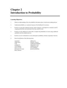Chapter 2 Introduction to Probability