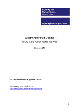 Future of the Human Rights Act 1998