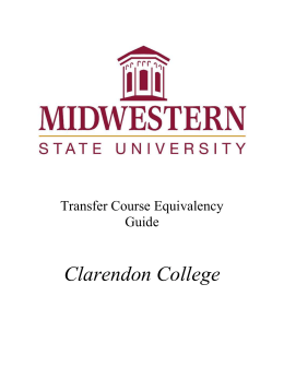 Clarendon College - Midwestern State University