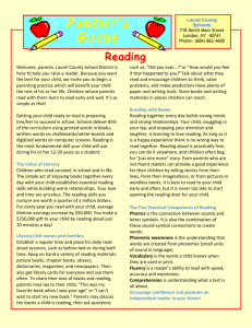 Parent Guide to Reading