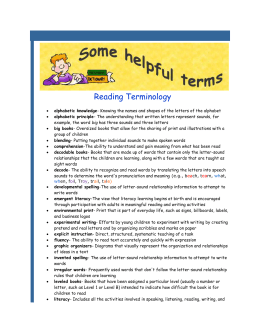 File Reading_Terminology