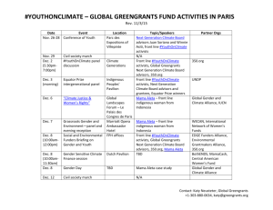 youthonclimate – global greengrants fund activities in paris