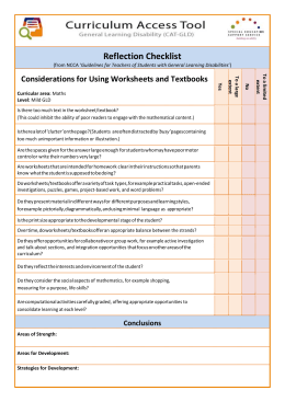 Using Worksheets and Textbooks (MS Word 81 Kb)