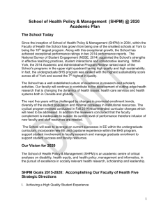 Academic Plan - Faculty of Health