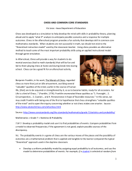 CHESS AND COMMON CORE STANDARDS