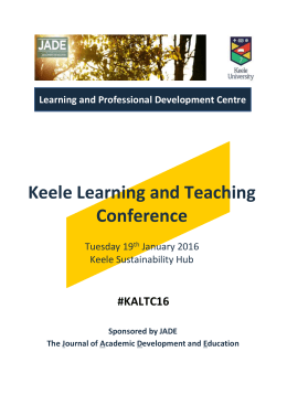 Learning and Teaching Conference Programme