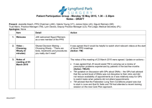 PPG Notes May 2015 - Lyngford Park Surgery