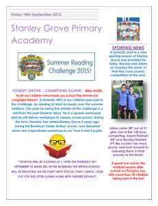 Newsletter Friday 18th September 2015