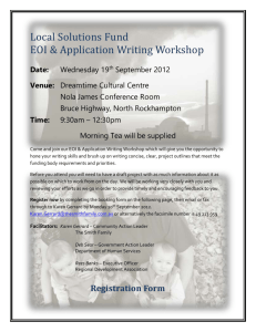 LSF EOI Application Workshop 19th Sept 2012 Flyer