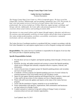 Latino Services Coordinator Position