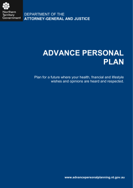 Advance Personal Plan form (doc)