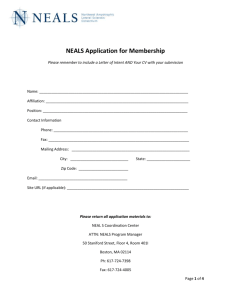 Membership Application - The Northeast ALS Consortium