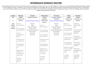 intermediate workout routine