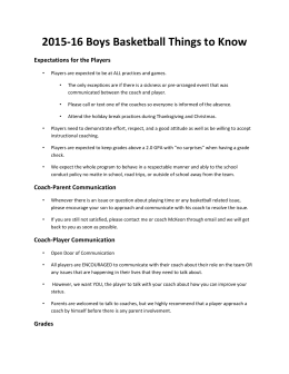2015-16 Spartan Basketball Parent Information
