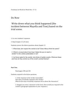 To Kill a Mockingbird - Essay Example