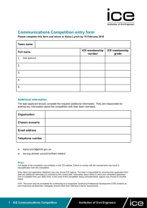 Entry forms - Institution of Civil Engineers