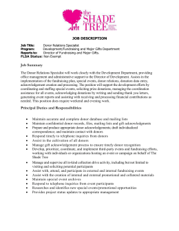 Job Summary - The Shade Tree