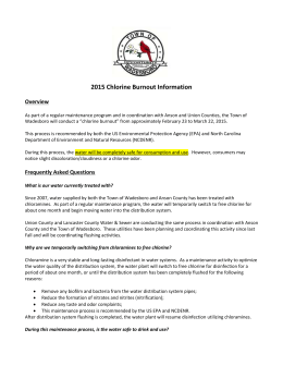 2015 Chlorine Burnout Information Overview