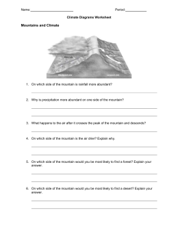 Name: Period: Climate Diagrams Worksheet Mountains and Climate