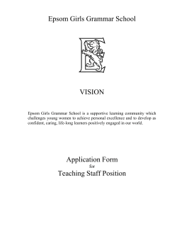 Science Teacher Application Form