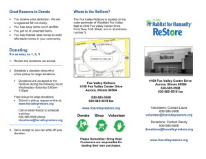 What is a ReStore?