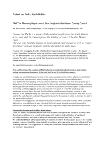 Objection letter – South Dublin Protect our Parks