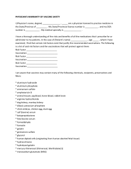 PHYSICIANS Vaccine form