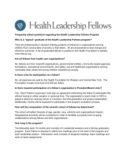 Health Leadership Fellows FAQ - Health Foundation for Western