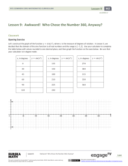Algebra II Module 2, Topic A, Lesson 9: Student Version