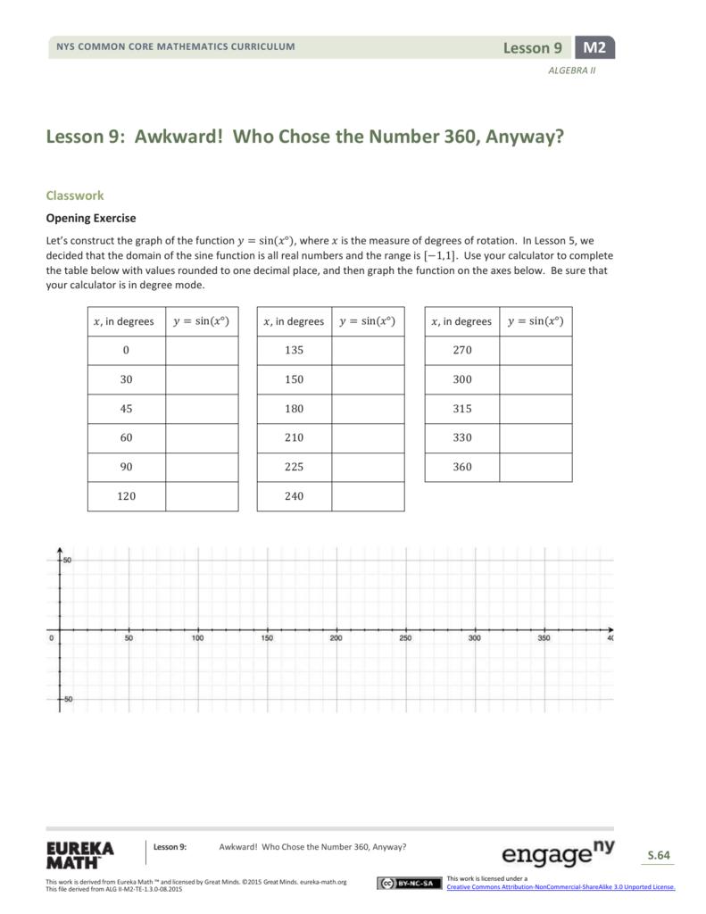 Algebra II Module 2, Topic A, Lesson 9: Student Version