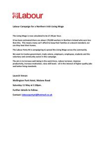 Labour Campaign for a Northern Irish Living Wage