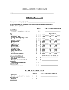3. Medical History Questionnaire