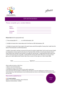 ChILD donation gift aid form