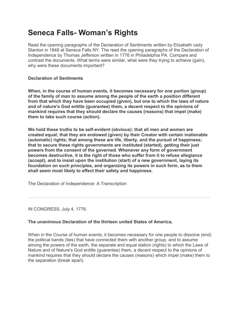 declaration of sentiments essay essay classification essay topics to write a great essay essay essay division and classification essay · declaration of sentiments