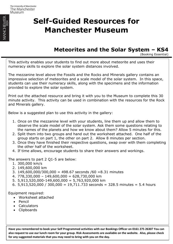 Mezzanine - Meteorites and the Solar System