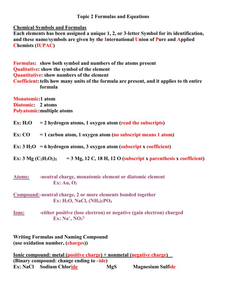 Formulas and equations buycottarizona