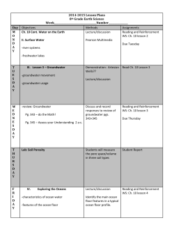2014-2015 Lesson Plans 8th Grade Earth Science