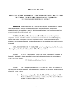Corrected Ord. 21-2015 Neighborhhod Business District – Ordinance