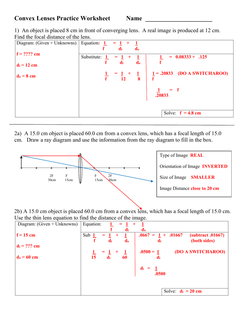 Thin Lens Equation Calculator