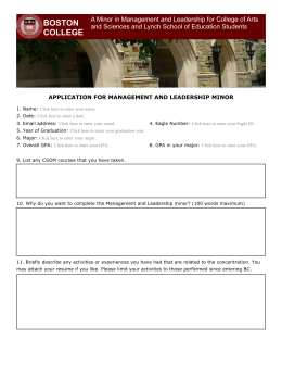 Management and Leadership minor app
