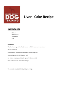 Liver Cake Recipe - Dog Training Blog