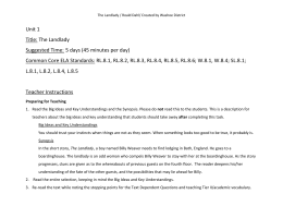 introduction and conclusion paragraph landlady the landlady achieve the core